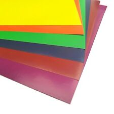 10 x A4 Coloured Paper Peel & Stick Sticky Backed Adhesive Sheets Cardmaking