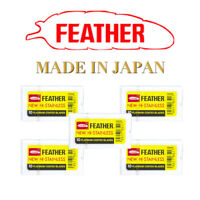 50 Feather Shaving Razor  Blades  Stainless Double Edge Original Made in Japan