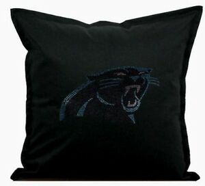 """Carolina Panthers Cover Sofa Throw Pillow Case 18""""X18"""" Chair Couch Rhinestone"""
