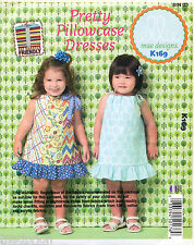 KWIK SEW SEWING PATTERN 169 TODDLERS & GIRLS 1-4 EASY PILLOWCASE STYLE DRESSES