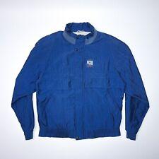 Vintage 90s Men Blue Windbreaker Size Medium Mint Condition