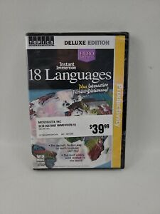 Instant Immersion 18 Languages Deluxe Edition (CD-ROM, 2003 3 Discs) Brand New