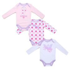 PUMA Baby Girls 3 Pack Long-Sleeve Infant One Piece Bodysuit