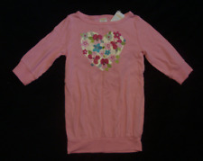 NWT GYMBOREE PINK FLORAL HEART PRINTED 3/4 SLEEVES LONG TOP SIZE 5