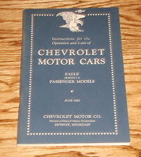 1933 Chevrolet Motor Cars Eagle Series CA Owners Operators Manual 33 Chevy
