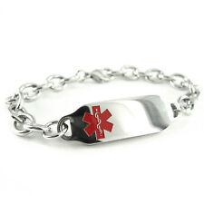 MyIDDr - Pre Engraved - HEART ANGINA Medical Bracelet, with Wallet Card