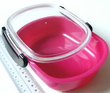 i268 PINK Microwave Glit & Brillia Japan 14x11x4.5cm Lunch Bento Box Lock Lid