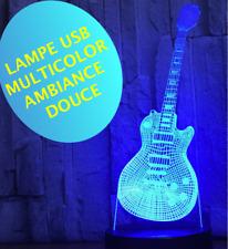 Lamp Guitar Les Paul - Ambient -multicolor- Bedside Kids - 3 AAA Batteries/USB