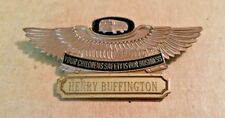Vintage School Bus Driver Name Badge Pin Your Children's Safety is Our Business