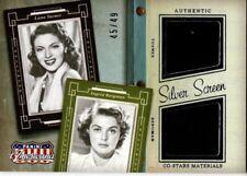 AMERICANA 2015 SILVER SREEN RELIC CO-STARS MATERIALS CARD BERGMAN & TURNER 45/49