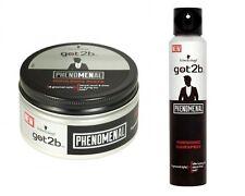 DUO Schwarzkopf Got2b PHENOMENAL Moulding PASTE 100ml+ Finishing Hairspray 200ml