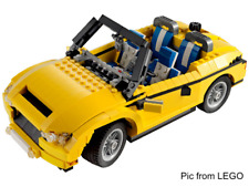 LEGO Creator 3 in 1 Yellow Vehicle 5767 Cool Cruiser Set w Instructions