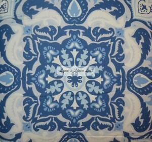 RALPH LAUREN FABRIC Porcelain Blue Medallion QUEEN COMFORTER SHAMS BEDSKIRT 4P