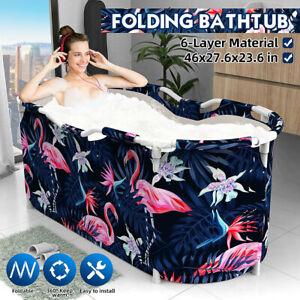 117x70x60cm Folding Bathtub Water Tub Indoor Portable Adult Spa Bath Bucket