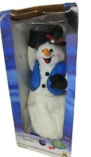 More details for rare gemmy snowflake spinning snowman legs animated 2 song version no lights