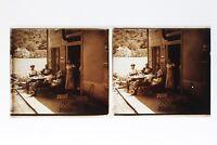 Francia Casa Nel Un Village Foto Stereo T2L3n Placca Da Lente Vintage