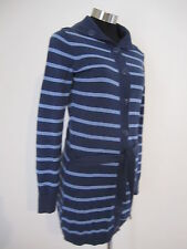 Esprit Blue Striped Cotton Cardigan Size Small