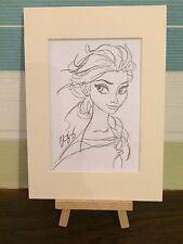 DISNEY congelato CONCEPT ART-Regina Elsa Pencil sketch A Mount-Opera d'Arte Originale