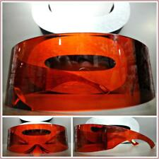 SPACE ROBOT PARTY RAVE DJ COSTUME CYCLOPS FUTURISTIC SHIELD Wrap SUNGLASSES Red