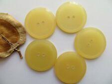 1950s Vintage Big Carved-rim Moonglow Lt Yellow Coat Jacket Dress Buttons-31mm