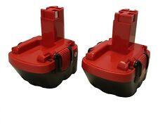 2x Bosch GSR 12V 2.1Ah GLI 12V AHS GSB GSR PSR 12 Ni-MH Battery BAT043 BAT045