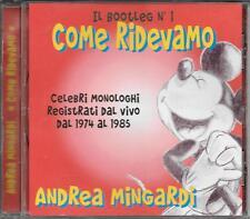 "ANDREA MINGARDI - RARO CD FUORI CATALOGO "" COME RIDEVAMO """