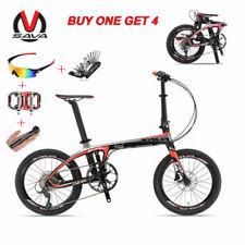 Sava Z1 20'' Cycling Folding Bike T700 Carbon Fiber Frame Bicycle 9S Black Red