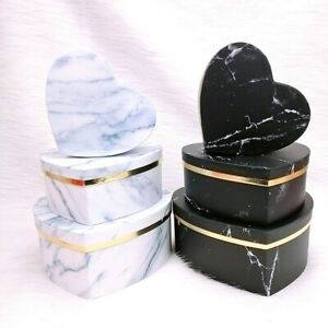 3Pcs Heart Shaped Candy Boxes Gift Box Packaging Boxes Valentine's Day UK-STOCK