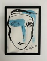 """PAINTING ORIGINAL ACRYLIC ON CANVAS PAD(FRAME INCLUDED) 5x7"""" CUBAN ART by LISA."""