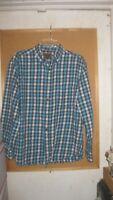 St Johns Bay Cotton Flannel Plaid Shirt Size L.