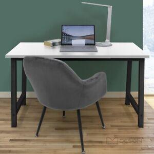 Schreibtisch Computertisch Bürotisch Arbeitstisch Tisch 120x60 cm Weiß-Schwarz