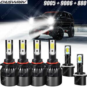 For Chevy Tahoe2001-2006 9005 9006 Faros delanteros LED Hi/Lo 880 Luz antiniebla