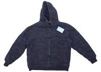 Easy Mens Size L Cotton Blend Blue Jacket