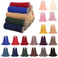 Muslim Women Chiffon Long Scarf Scarves Islamic Shawl Hijab Stole Wrap Headcover