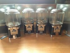 Four Beaver Black and Chrome Gumball Candy Bulk Vending Machine + 4Lock and 1Key