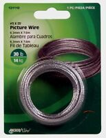 HILLMAN AnchorWire Picture Mirror Wire #3x 25ft Braided Steel Hanger 30lb 121110