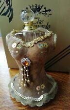 GLASS PERFUME BOTTLE REFILL HOLDER Dressing Table Display Leonardo Suede