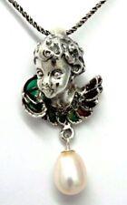Collares y colgantes de joyería con perlas blancas colgante