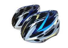 HardnutZ Bike Helmet Road Mountain Bicycle Cycling Hi Vis MTB Blue White Black