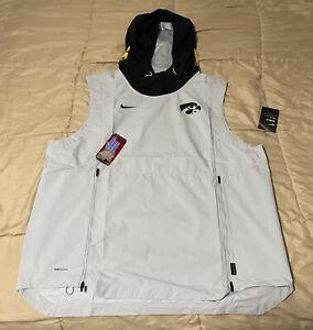 Iowa Hawkeyes Mens Nike Shield Fly Rush Hoodie Vest (Size 2XL)