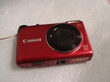 Very Nice Canon Powershot A2200 14MP Digital Camera - Red