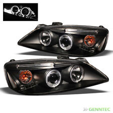 For 2005-2010 Pontiac G6 Twin Halo LED Projector Headlights Black Head Lights