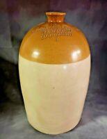 RARE A W Buchan & Co 5-Gal. Earthenware Stoneware Jug Crock Portobello Scotland