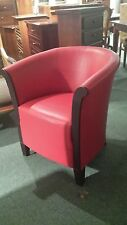 Modern Contemporary Retro armchair Red for office, reception, hallway, home