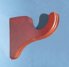 """Mahiogany Support Bracket in finish for a 1-3/8"""" dowel rod - 2/pack"""