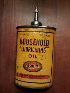 Very Rare 1928 Sohio Handy Oiler Lead Top Standard Oil Handy Oiler Wide Body Can