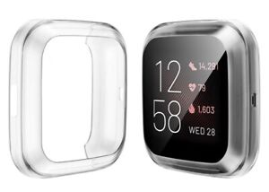 For Fitbit Versa 2 Full Shockproof Cover Screen Protector TPU Case Watch