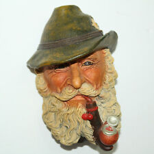 GORGEOUS BOSSONS VTG CHALKWARE HEAD LEGEND PRODUCTS CONGLETON ENGLAND - TYROLEAN