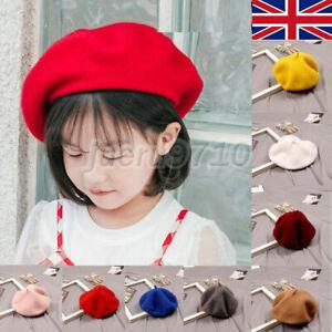 Children Kids Berets Hats Woolen Cap Girl Baby Winter Warm Hat Beret Cap UK