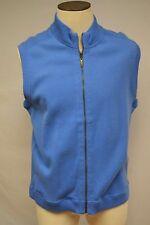 Ocean & Coast Reversible Zip Up 100% Cotton Mens Vest Size L NWT $65